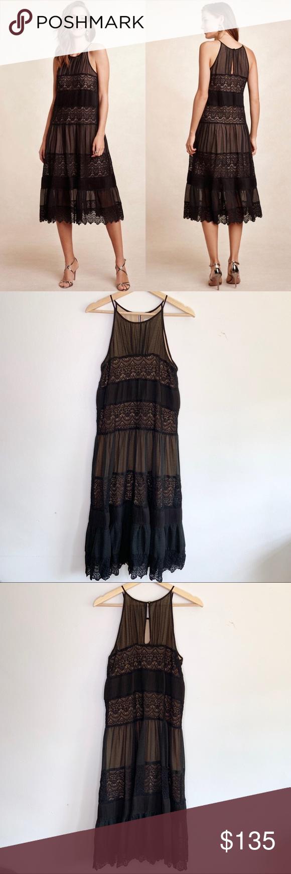 Hd In Paris Villanelle Lace Dress In Black Lace Dress Fashion Anthropologie Dress [ 1740 x 580 Pixel ]