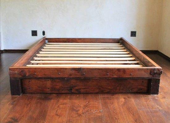 reclaimed wood bed - Reclaimed Wood Bed Bed Pinterest Wood Beds, Reclaimed Wood