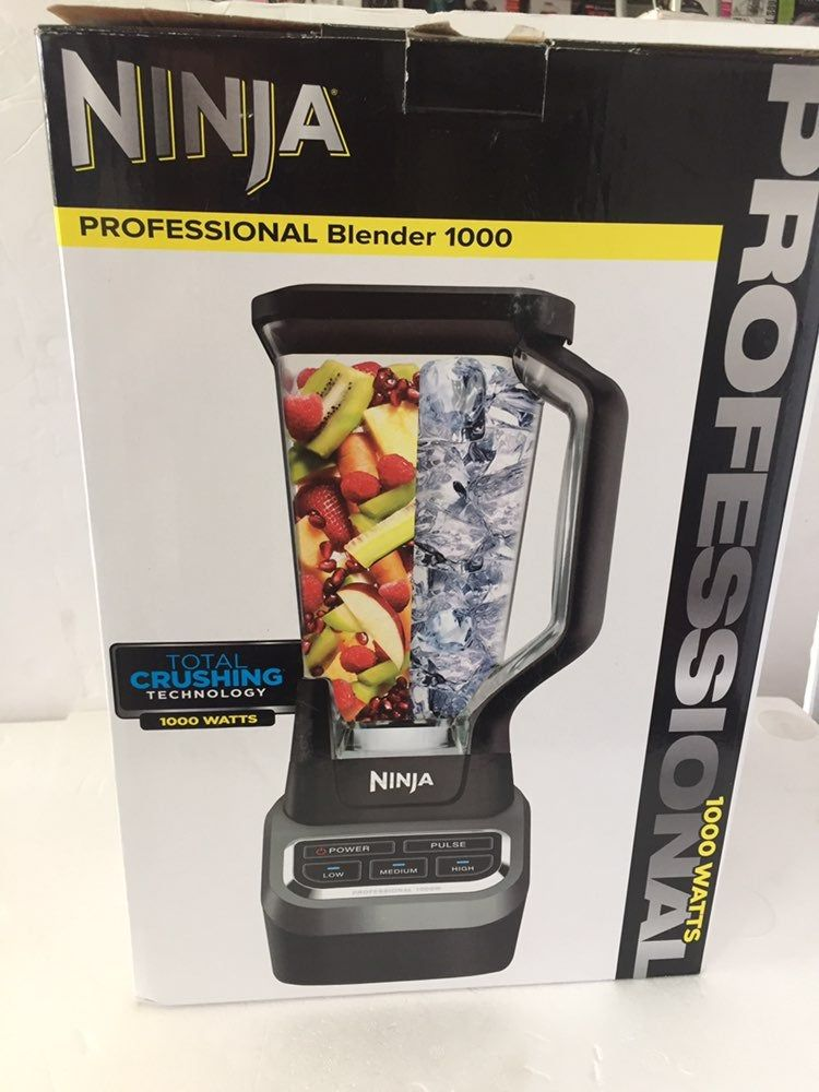 New Open Box Ninja Professional 1000 Watt Blender 72 Oz Xl