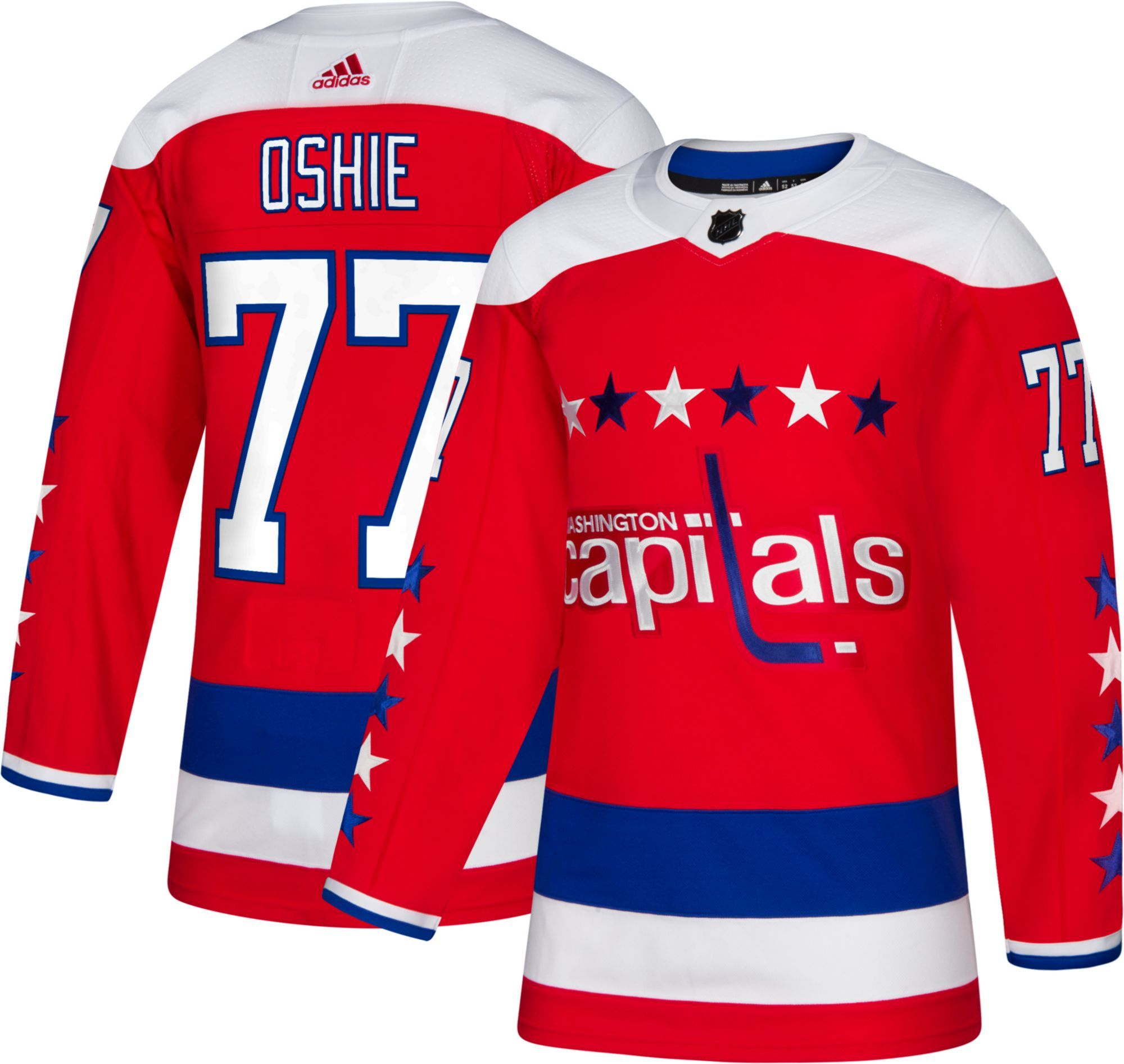 new styles 01064 62bdc adidas Men's Washington Capitals T.J. Oshie #77 Authentic ...