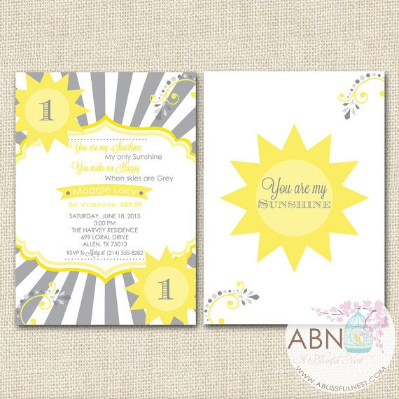 Il 170x135 Sunshine Birthday Sunshine Birthday Parties Birthday Invitations