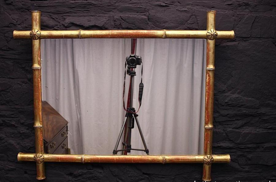 Decorative Napoleon III Faux Bamboo Gilt Mirror | Antiques ...