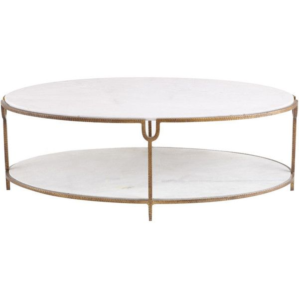 Global Views Olivia Marble Top Coffee Table 1 999 Liked On Polyvore Featuring Home Furniture Coffee Table Marble Top Coffee Table Marble Top Accent Table