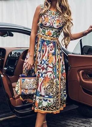 Vestidos Elegante A Media Pierna Manga Corta Liso Floryday