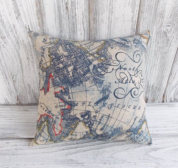 Sale world map pillow cushion for home decor nautical ship themed sale world map pillow cushion for home decor nautical ship themed linen cushion for home gumiabroncs Choice Image