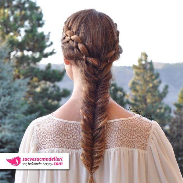 Balik Sirti Sac Orgusu Modelleri Peinados Lazos Trenzas
