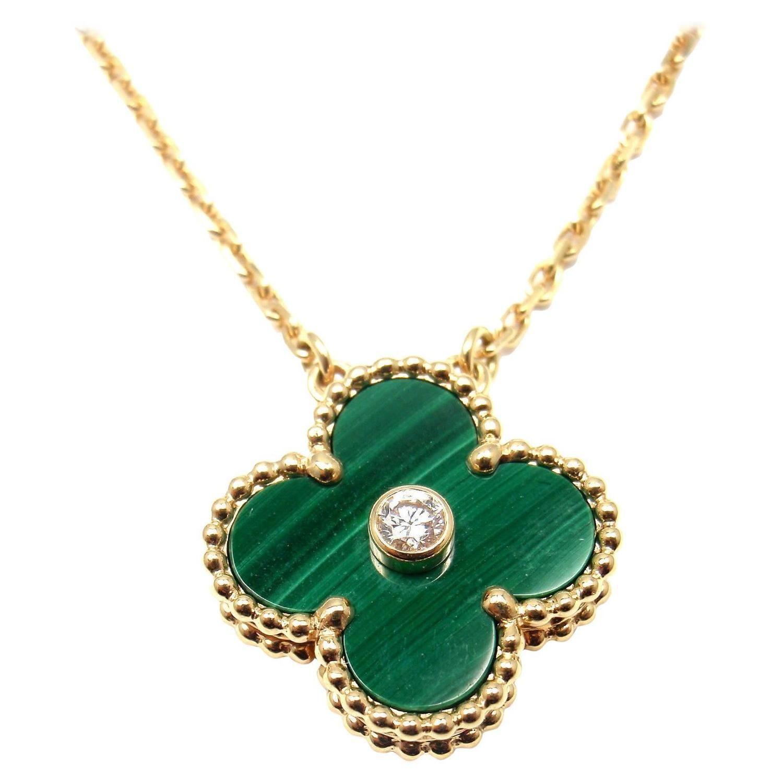 Van Cleef & Arpels Limited Edition Alhambra Diamond Malachite Gold