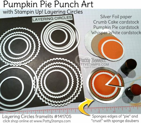 Thanksgiving Pumpkin Pie punch art! (Patty's Stamping Spot)