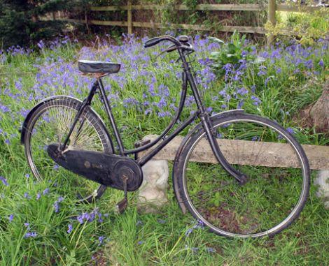 1931 All Black 23 Golden Sunbeam Ladies Vintage Bikes Vintage Bike Bicycle
