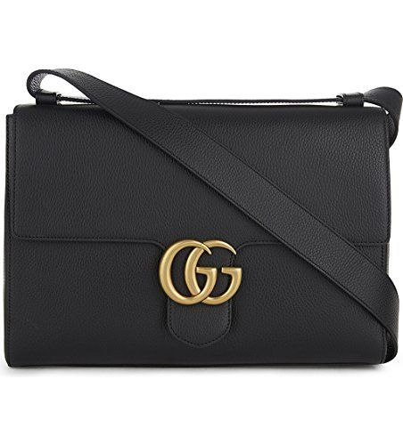 9abf0db3a Gucci Women's Black gg Marmont Medium Brass Tiger Leather Shoulder Bag New # handbag #shoulderbag #Black #Gucci #Gucci Visit Sakosj.com for the Largest  ...