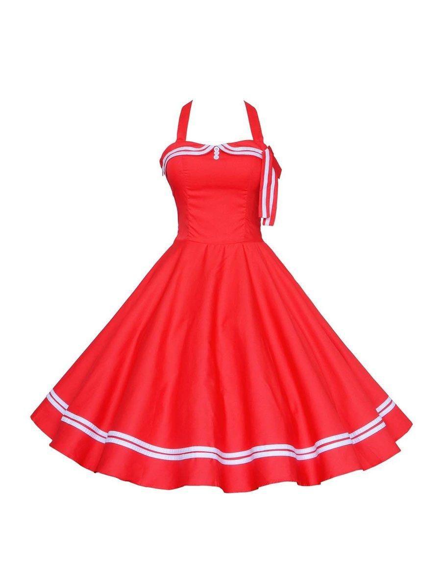 Adorewe justfashionnow fugudesigner womens red simple aline