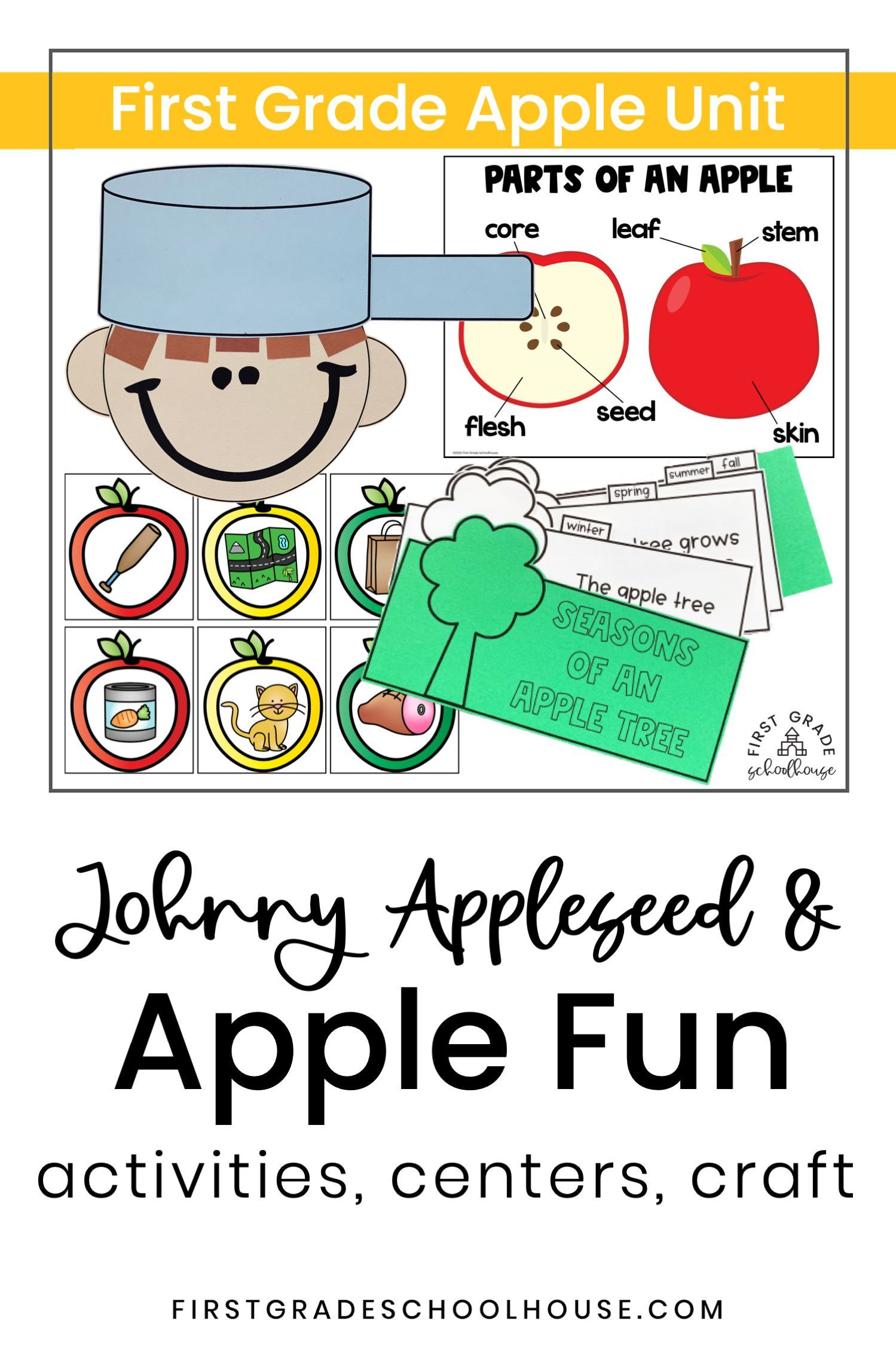 Johnny Appleseed Activities And Apple Unit And Centers