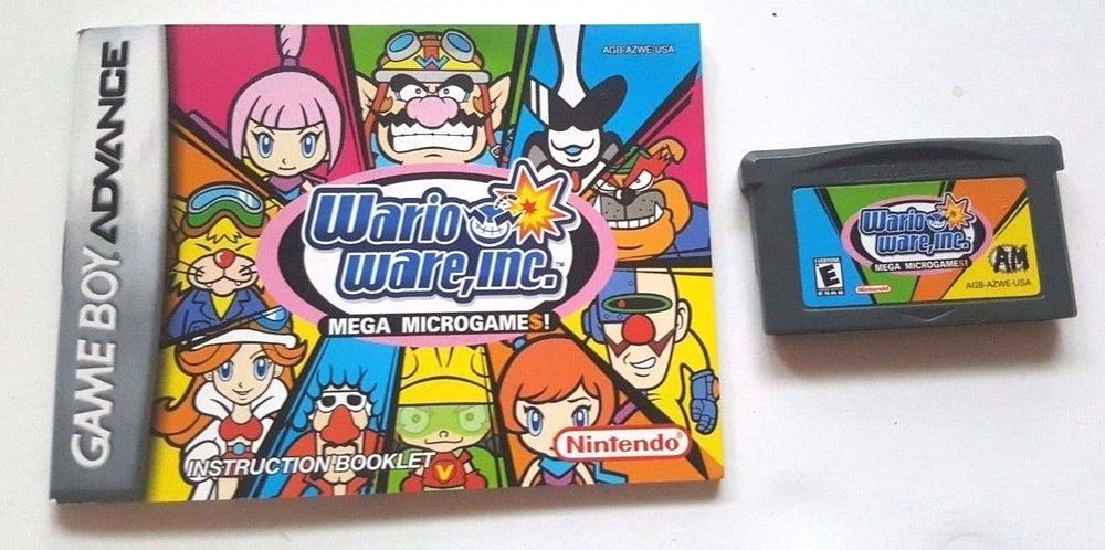 Gameboy Advance Game Gba SP DS Dsl WARIO WARE INC MEGA