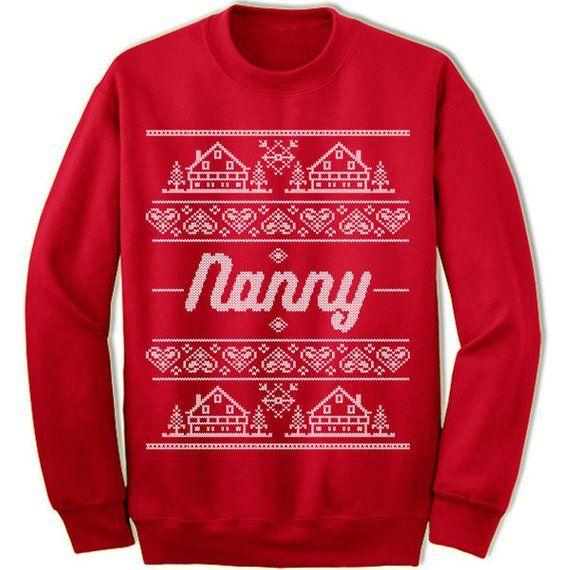 Nanny Christmas Sweatshirt Ugly Christmas Sweater for Nanny