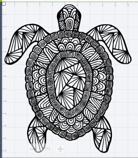 mandala sea turtle design svg eps dxf studio 3 cut file feeling crafty new craft inspiration. Black Bedroom Furniture Sets. Home Design Ideas