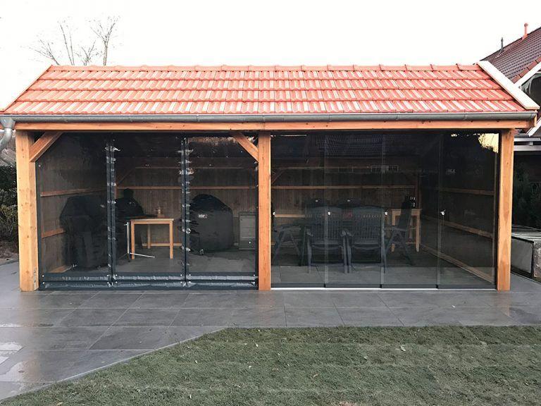 Bau Der Bigbbq Grill Remise Bigbbq De Garten Unterstand Kochen Im Freien Grillhutte