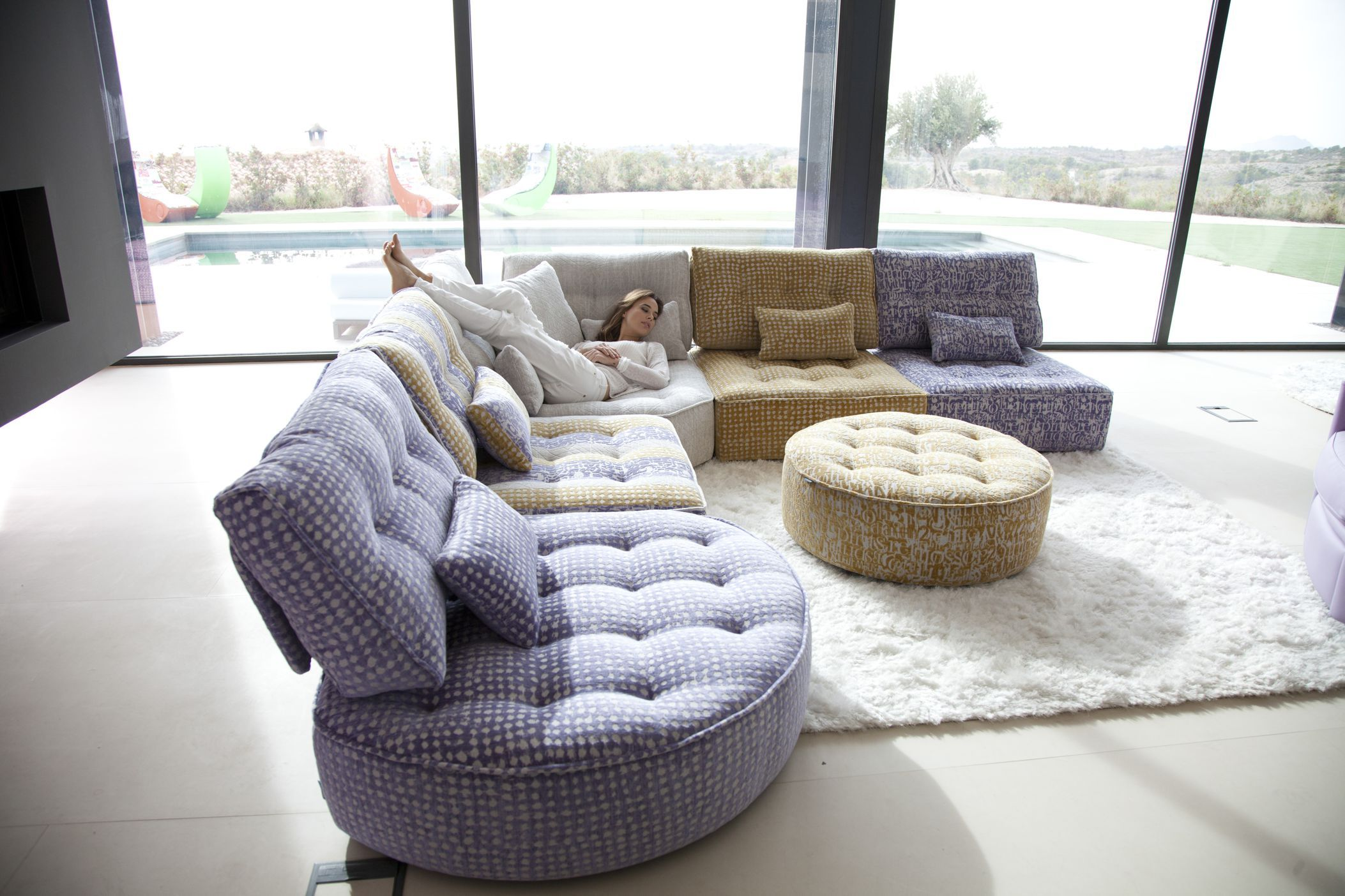 Arianne Modern Sectional Sofa by Fama Sofas Spain