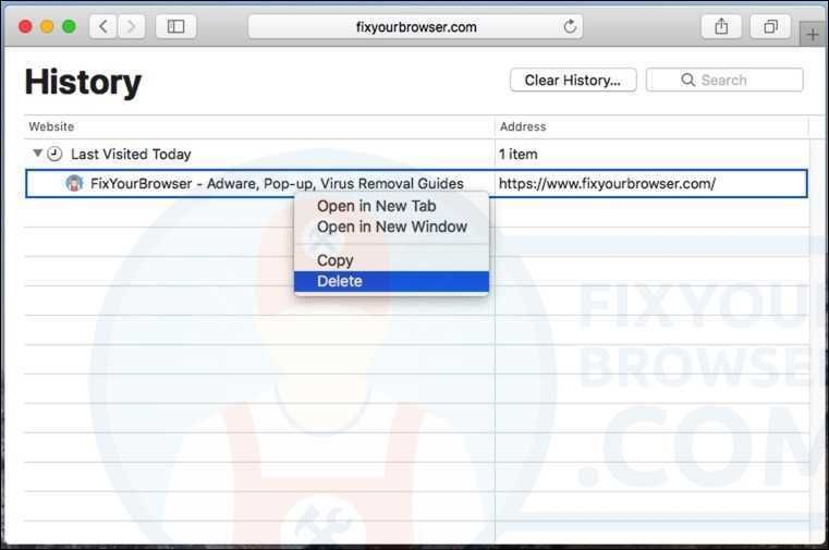 How To Get Rid Of Your History On Safari