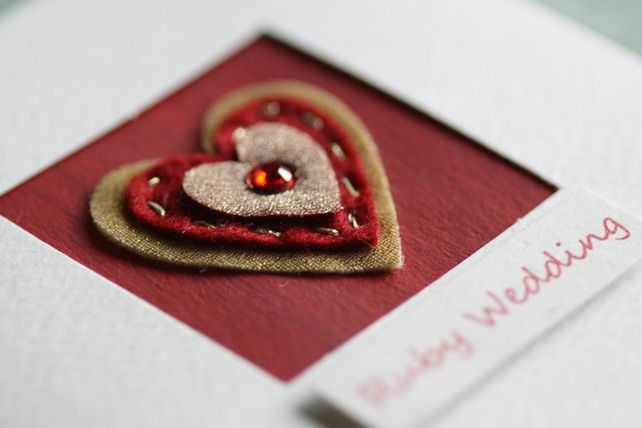 Ruby Wedding Gifts For Her: Ruby Wedding Anniversary Card