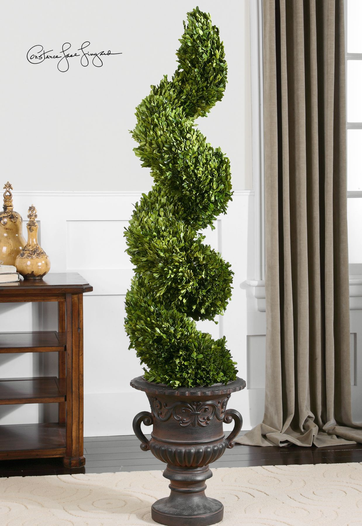 Preserved cypress bonsai 7 h contemporary phoenix by botanical - Uttermost Preserved Boxwood Spiral Topiary Botanicals Off Coupon