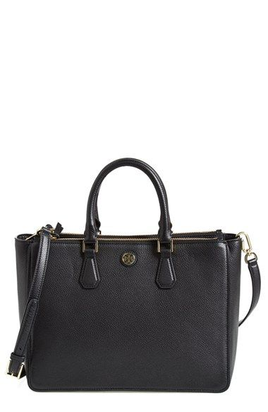 8afba5fa887 Tory Burch  Robinson  Pebbled Leather Double Zip Tote available at   Nordstrom