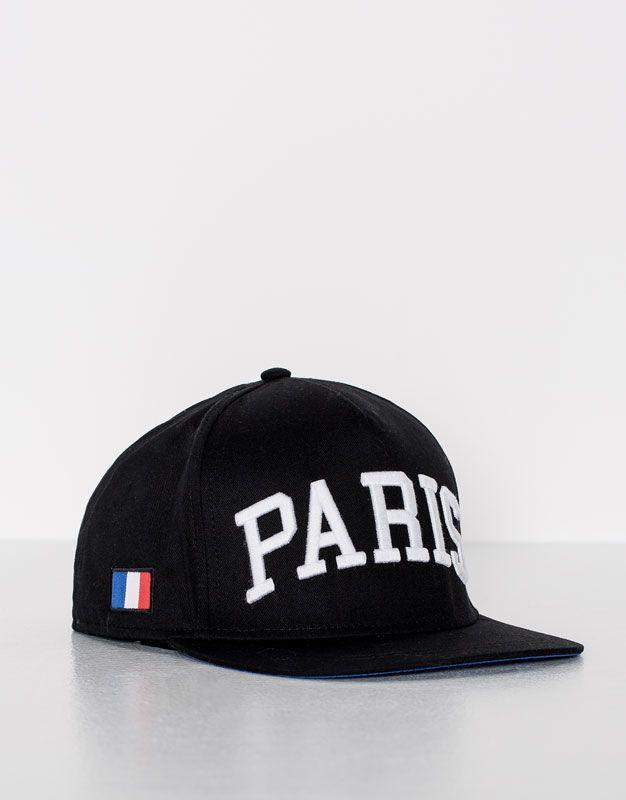 Pull Bear - hombre - novedades - accesorios - gorra negra paris - varios -  09830538-I2016 1238e01dfcd