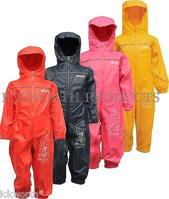 Regatta puddle rain suit waterproof all in one childrens kids ...