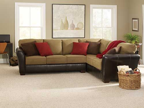 at rent a center the ashley dawkins mocha 2 piece sectional is the perfect mix of casual. Black Bedroom Furniture Sets. Home Design Ideas