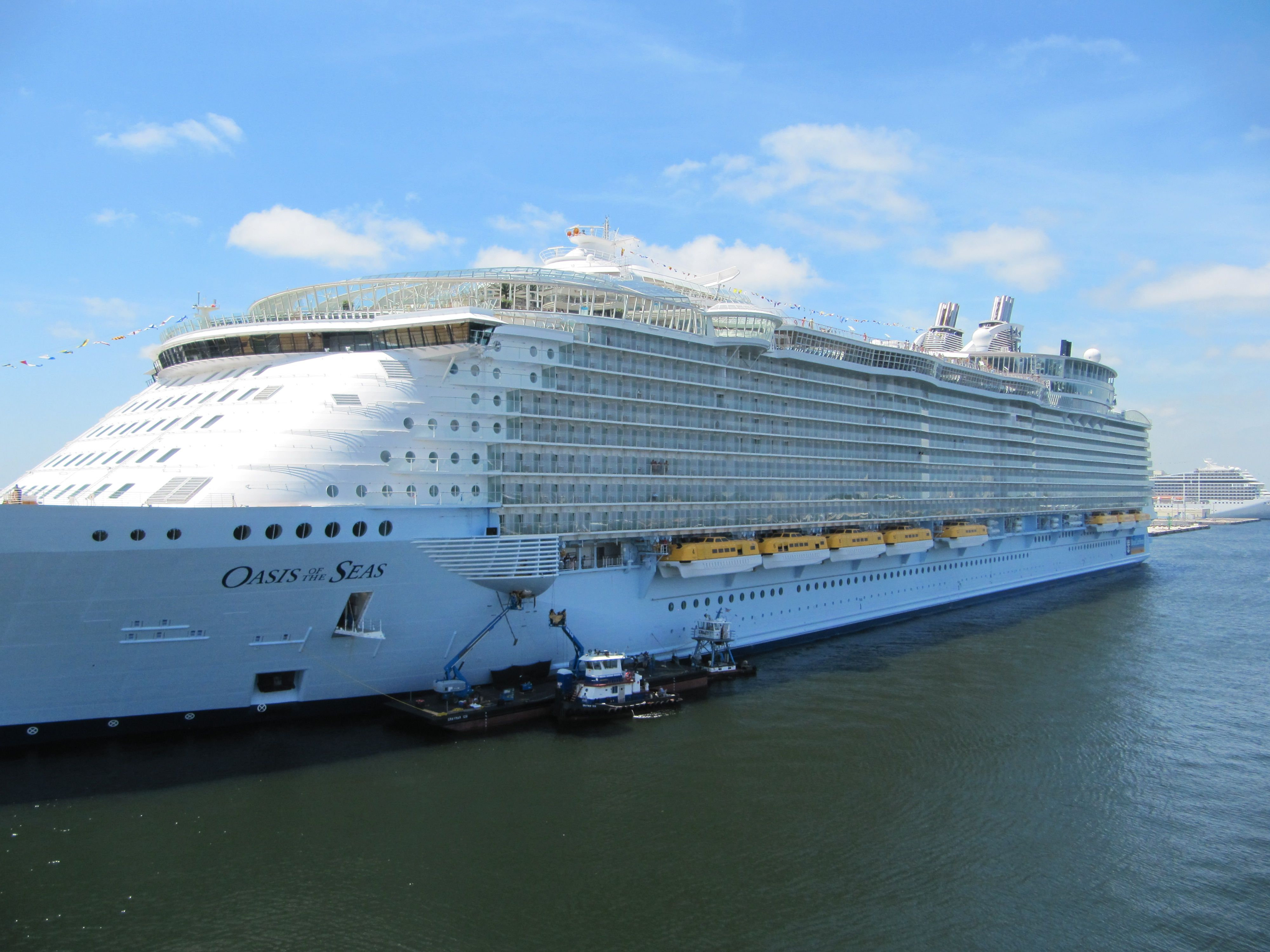 Oasis of the Seas - Royal Caribbean cruise ship.  2nd largest cruise ship - holds 6,400 passengers
