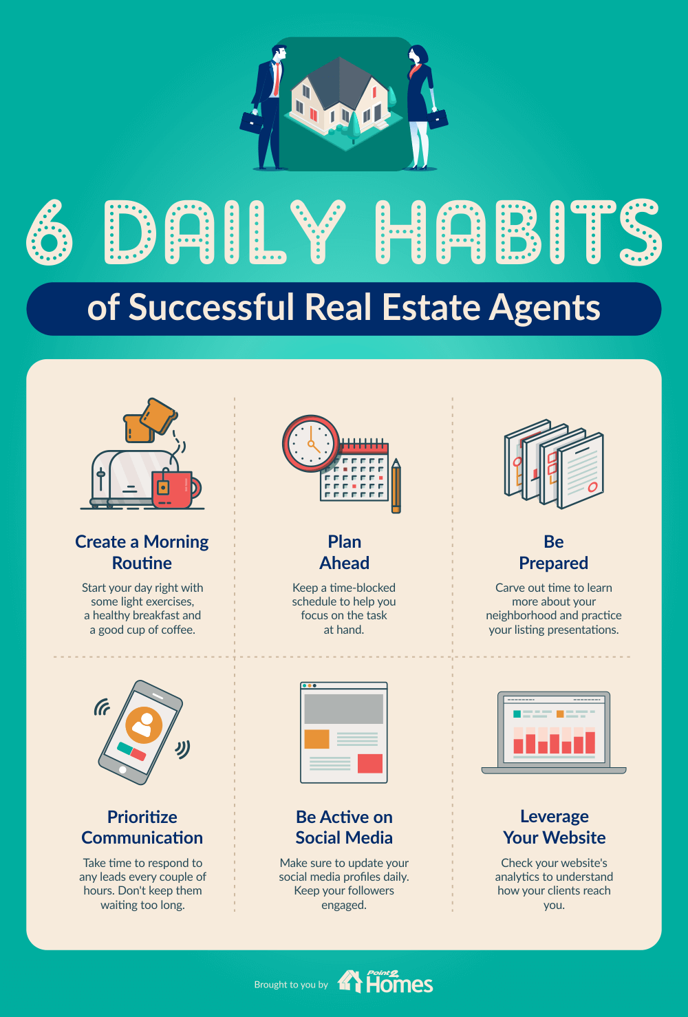 6 Daily Habits Of Successful Real Estate Agents Real Estate Agent Real Estate Marketing Getting Into Real Estate
