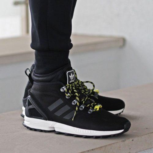 New Adidas Zx Flux Winter Core Black Shoes Men S 12 46 5 Trail Hiking Boots Black Shoes Men Hiking Boots Adidas Zx Flux