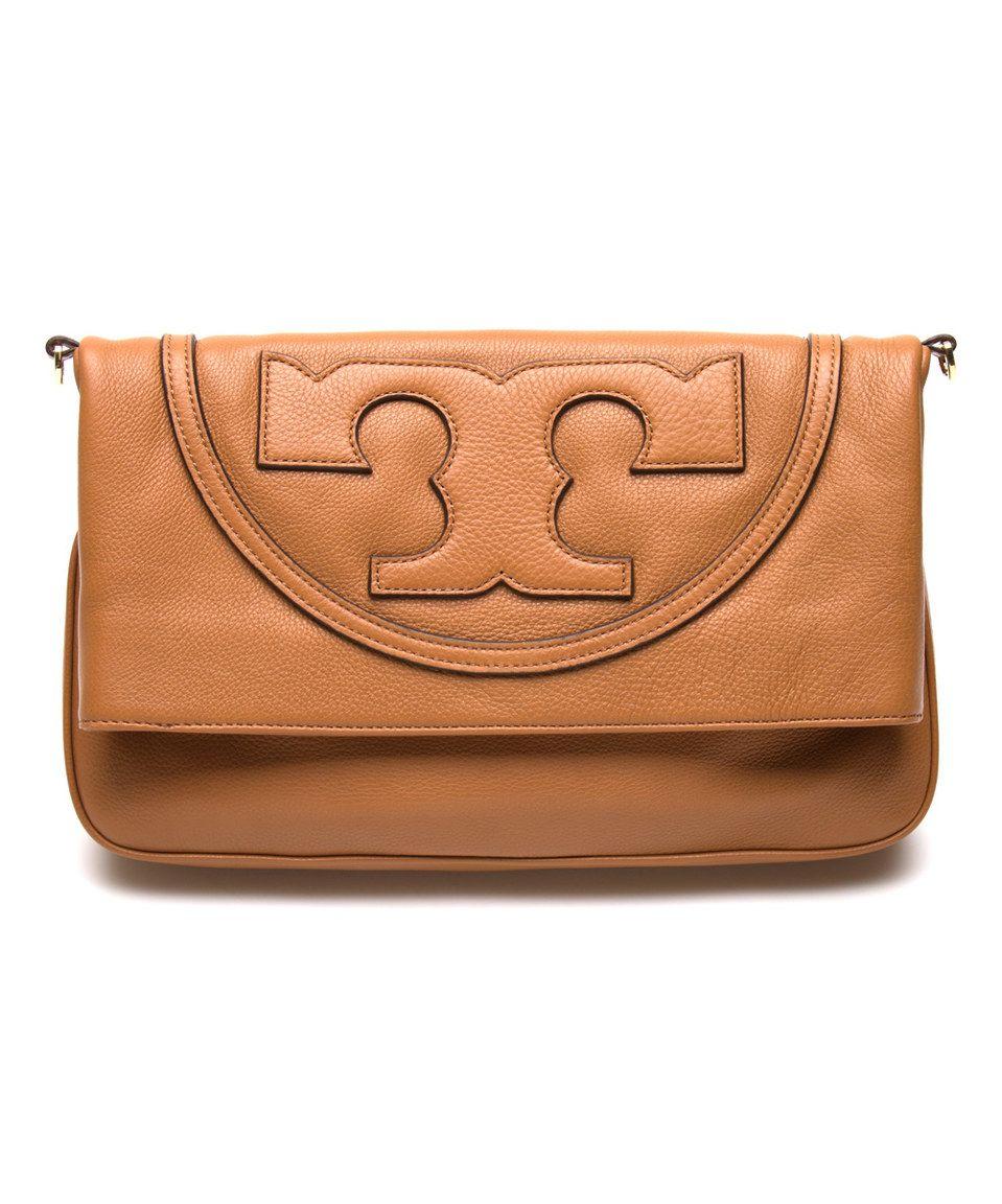 3cfdd0d27a1a Tory Burch Bark All T Suki Fold-Over Leather Messenger Bag by Tory Burch   zulily  zulilyfinds