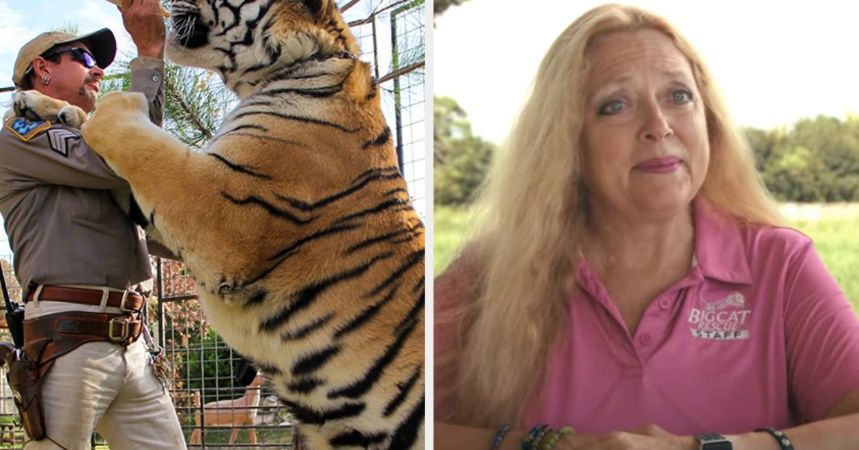 Carole Baskin From Tiger King Doesn T Want The Upcoming Dramatic Series To Use Real Tigers In 2020 Horror Movies Scariest Horror Movies Scary Movies