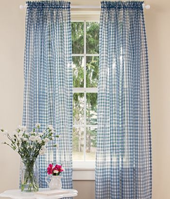Gingham Curtains Country
