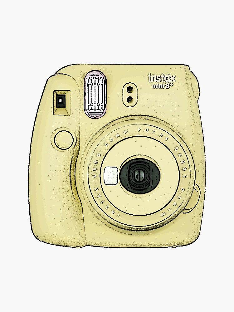 Pegatina 'Cámara Polaroid - Amarilla' de cherryblue | Cámara polaroid,  Dibujo de camara, Arte con cámara