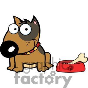 Beagle Dog Fetching Bone Cartoon Vector Clipart - FriendlyStock
