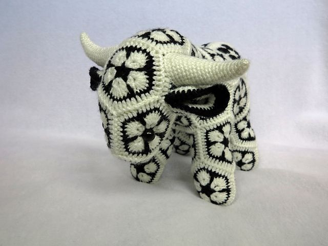 Ravelry: Project Gallery for Fatty Lumpkin the Brave African Flower Pony Crochet…