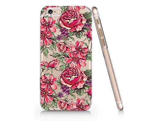 Flower Pattern Slim Iphone 6 6S Case, Clear Iphone 6 6S Hard Cover Case For Apple Iphone 6/6S -Emerishop (iphone 6) Emerishop