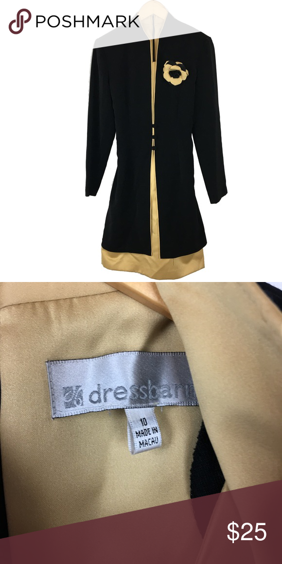 e9f300dcc569 Dress Barn black and gold dress Excellent condition. Brand new. Size 10. Dress  Barn Dresses