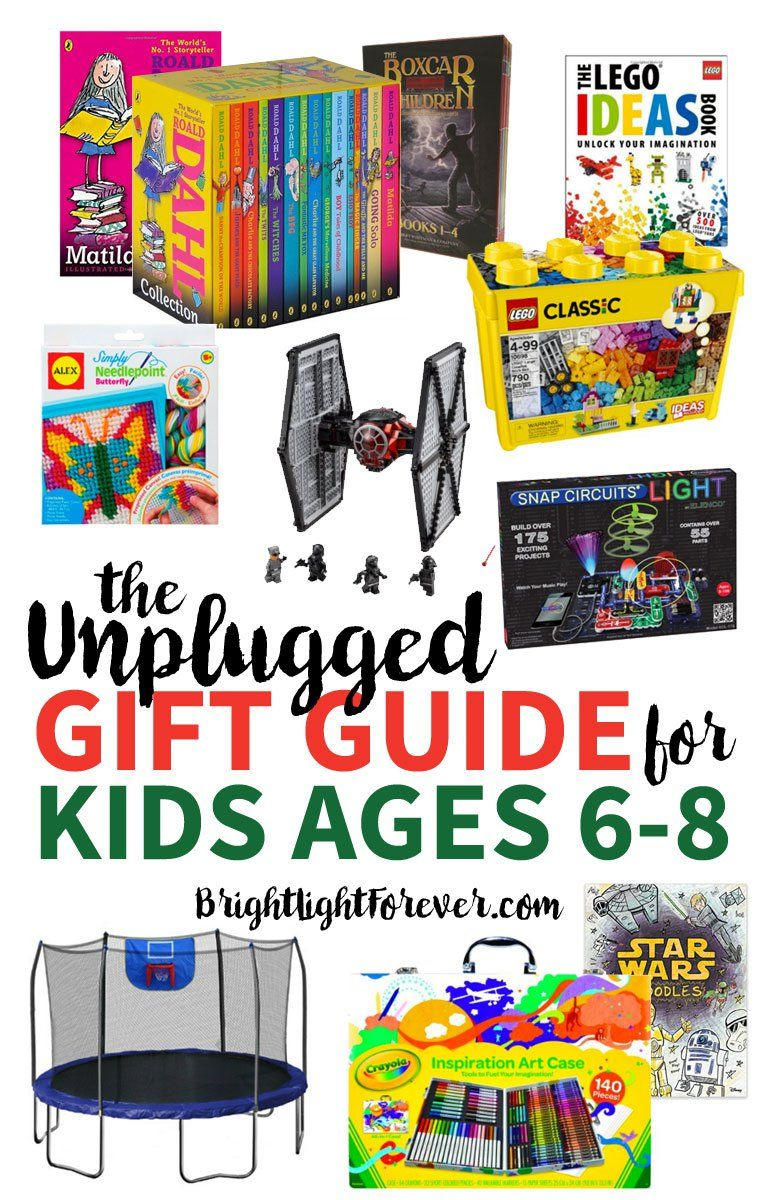 The Unplugged Gift Guide Ages 6 8 Christmas Gifts Gift