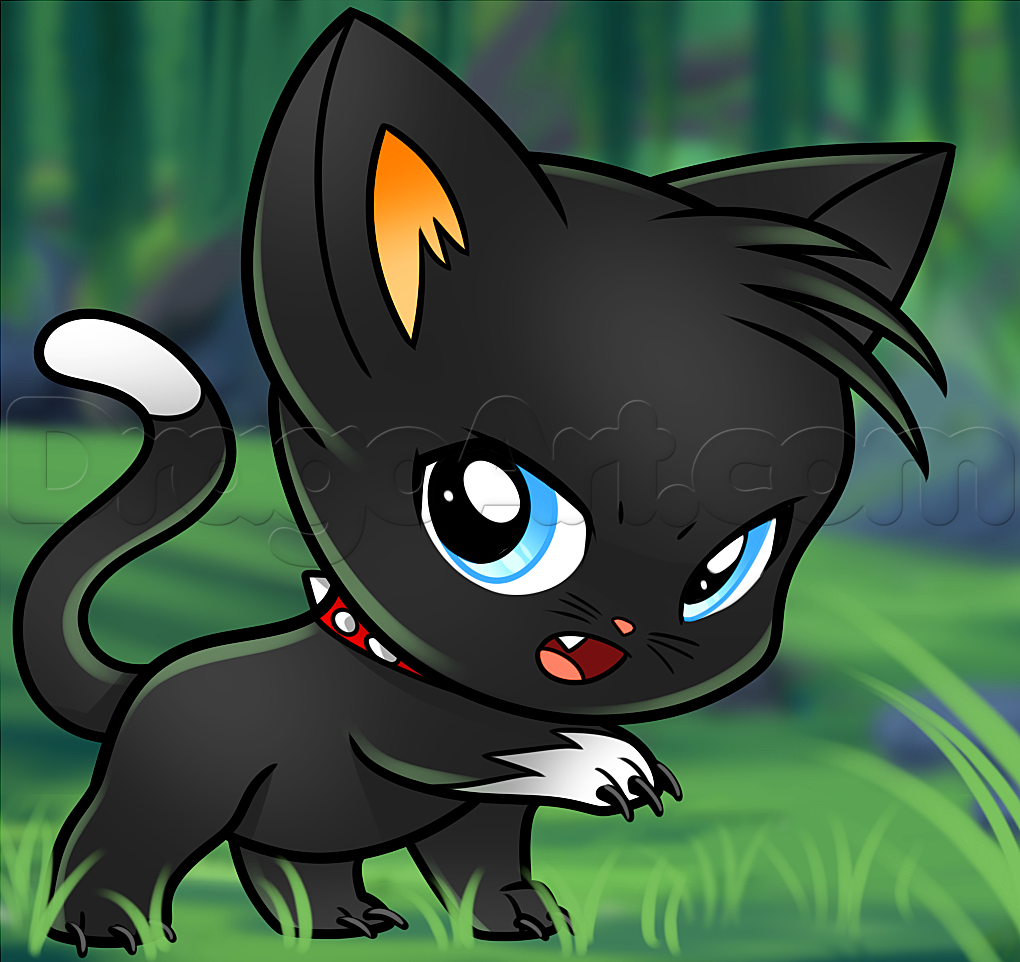 how to draw chibi scourge   Chibi cat, Cat drawing ...  Warrior Cat Chibi