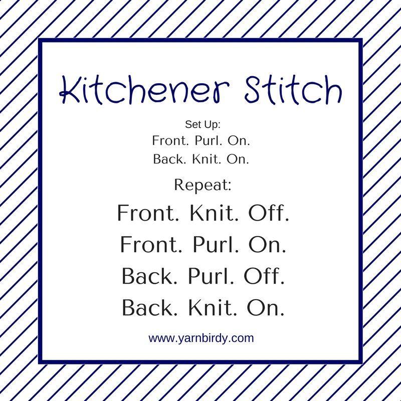 Kitchener Stitch Graphic Knitting Tutorial Stitch Kitchener