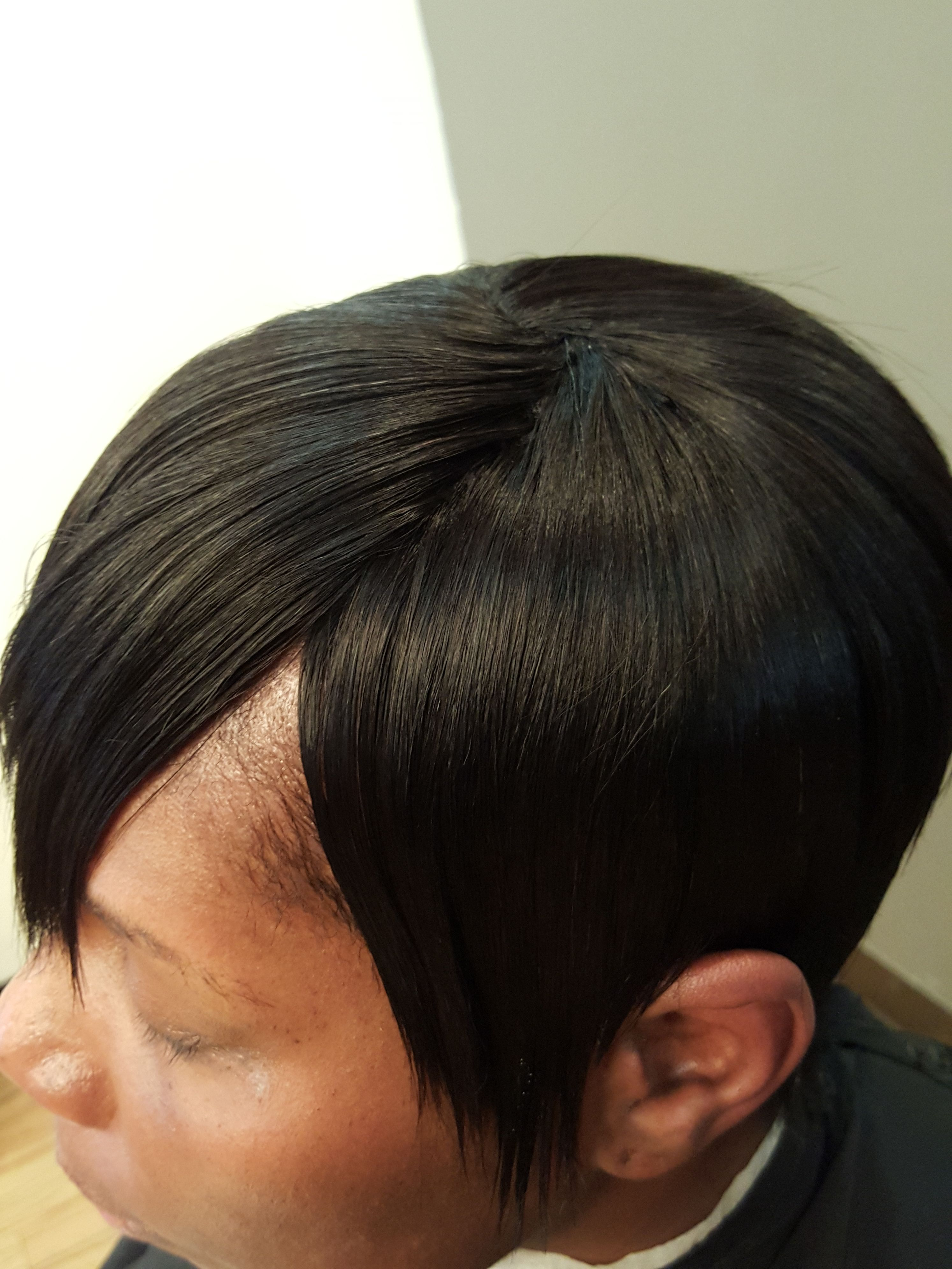 Sewn In Extensions Weaves Short Hair Net Styles Natural Extensions