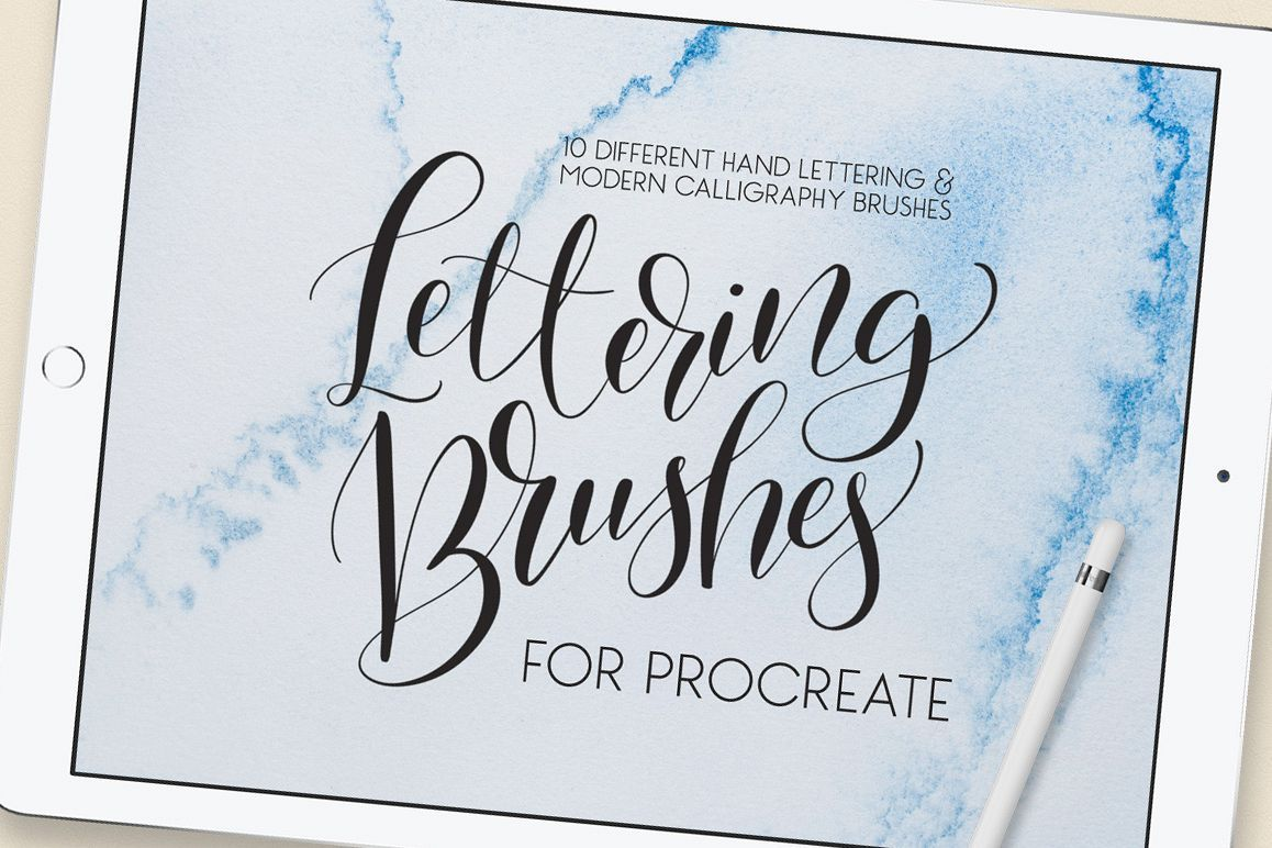 Download Lettering Brush Pack for Procreate | Lettering, Ipad ...
