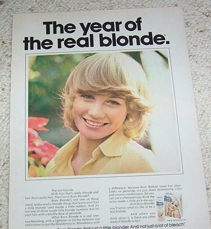 1973 Clairol Born Blonde Hair Color Blonde Clairol And Me 100 Club