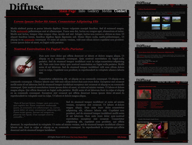 Modblackmoon Free Dark Grunge Html Css Web Template Designs