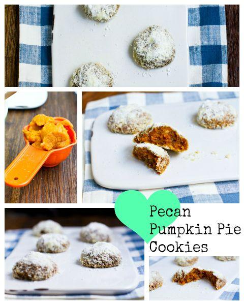 Thanksgiving Desserts Pecan Pie Pumpkin Pie More: Pecan Pumpkin Pie Cookies #vegan #thanksgiving #dessert