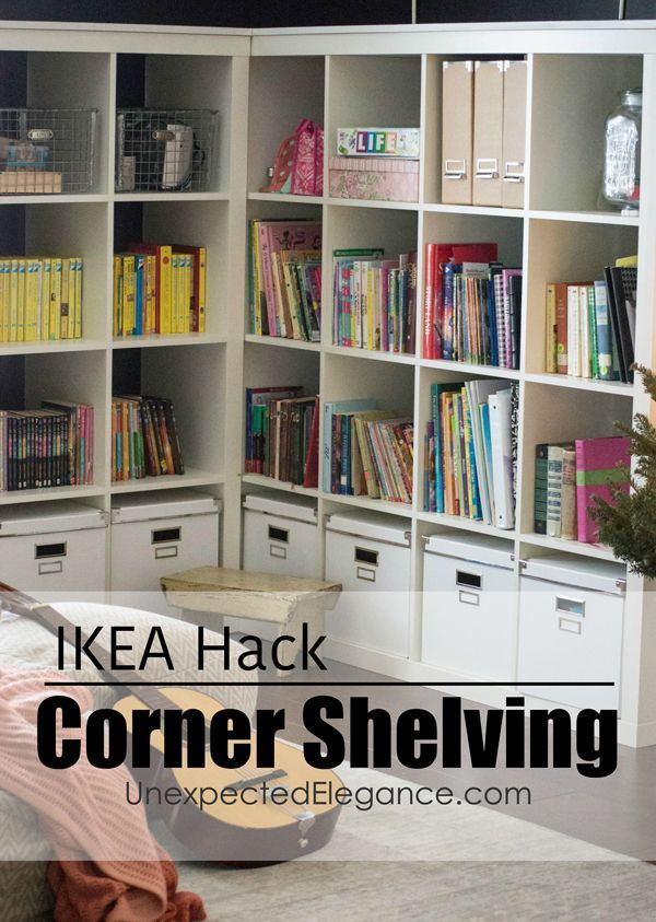 Attrayant Check Out This EASY Corner Cabinet IKEA Hack, To Turn Inexpensive Shelving  Into A Corner Storage Unit.