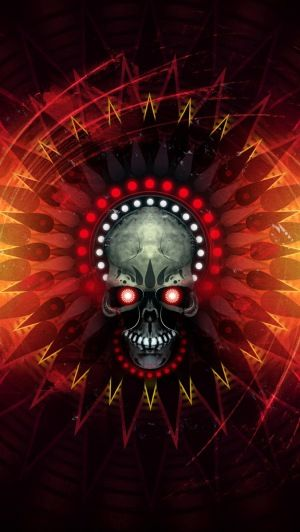 Download Wallpaper 640x1136 Ghost Rider Skull Fire Flame IPhone