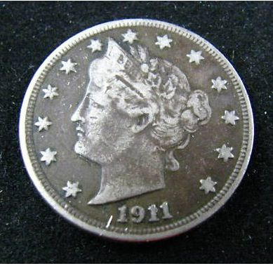 value of old coins 1911  | 1911 - LIBERTY HEAD NICKEL - XF